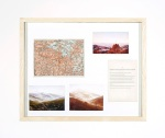 (Map) Wanders in the Great Mountains (map, text, images) Ink-jet prints of map, C. D. Friedrich paintings, fabricated bookpage, wood frame, glass, 58,5x70cm. 2011