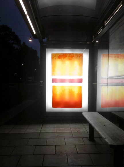 (Orange, Red, Yellow), ink-jet print on transparent paper, 185x105cm, 2012
