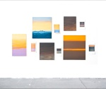 Romantic Skies, oil on MDF, ink-jet prints on Hahnemüle-paper, various sizes. 2010-2011