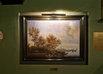 The van Ruysdael Painting, oil on canvas (Reproduction, made in China), frame, 78x104cm. 2012