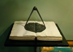 The Guidance of Divine Providence (The Atronomer), fabricated book, compass, shelf. 2012